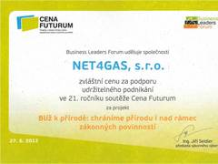 NET4GAS Closer to Nature was awarded!